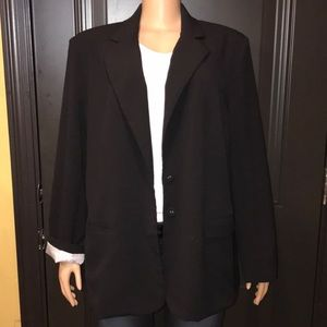 Dressbarn Boyfriend Black  Blazer button closure